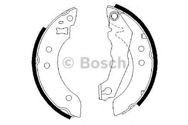 Колодки гальмівні барабанні Bosch 0986487035