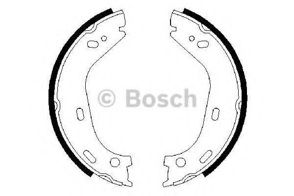 Колодки гальмівні барабанні Bosch 0986487126