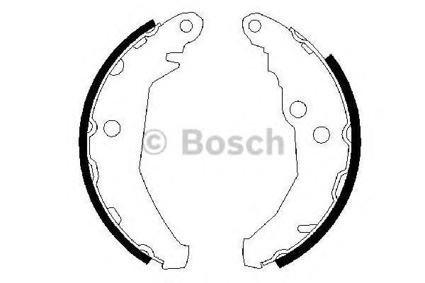 Комплект тормозных колодок BOSCH арт. 0986487195