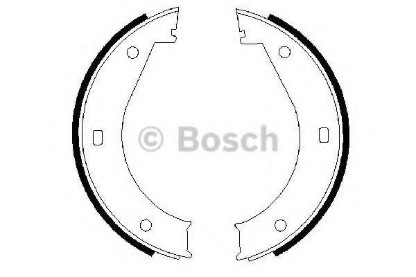 Комплект тормозных колодок, стояночная тормозная система BOSCH арт. 0986487211