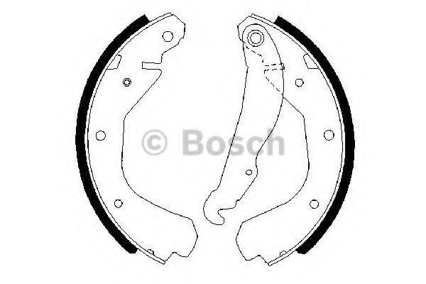Комплект тормозных колодок Bosch - 0986487213