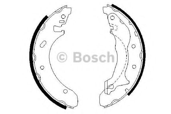 Колодки гальмівні барабанні Bosch 0986487330