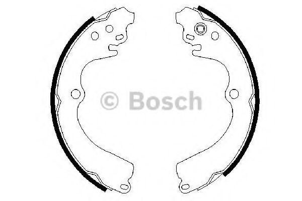 Комплект тормозных колодок Bosch - 0 986 487 463