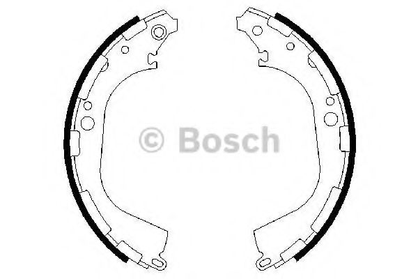 Колодки гальмівні барабанні Bosch 0986487464