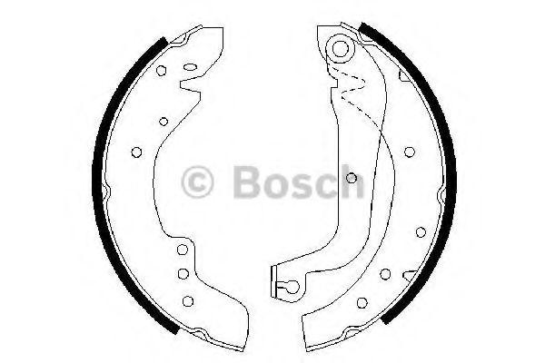 Колодки гальмівні барабанні Bosch 0986487547