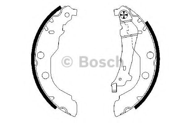 Колодки гальмівні барабанні Bosch 0986487549