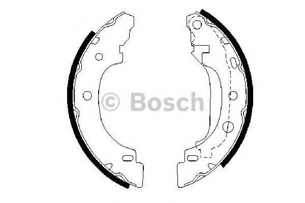 Комплект тормозных колодок BOSCH арт. 0986487570
