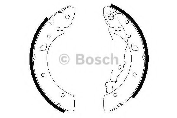 Колодки гальмівні барабанні Bosch 0986487572