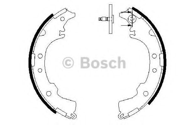 Колодки гальмівні барабанні Bosch 0986487588