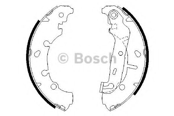 Комплект тормозных колодок Bosch - 0986487599
