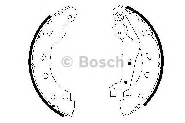 Комплект тормозных колодок BOSCH арт. 0986487600