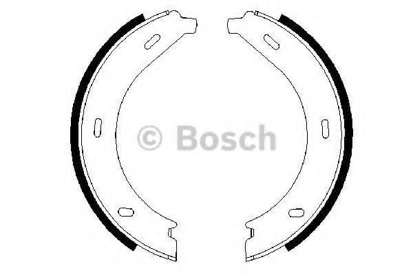 Комплект тормозных колодок, стояночная тормозная система BOSCH арт. 0986487605