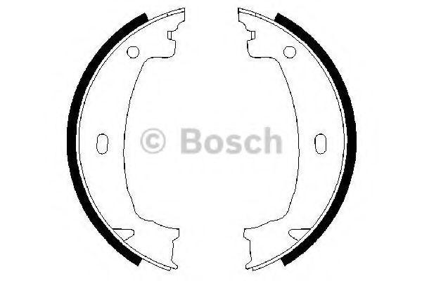 Колодки гальмівні барабанні Bosch 0986487608