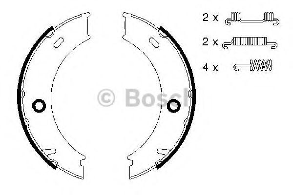Комплект тормозных колодок, стояночная тормозная система BOSCH арт.