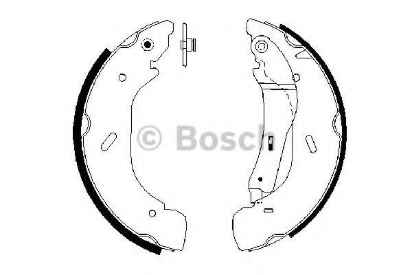 Комплект тормозных колодок BOSCH арт. 0986487612