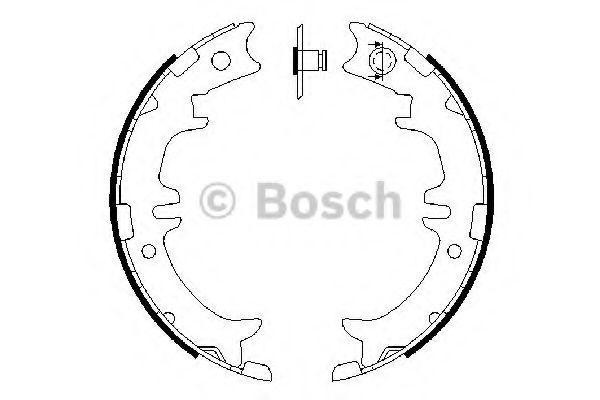 Комплект тормозных колодок, стояночная тормозная система BOSCH арт. 0986487615