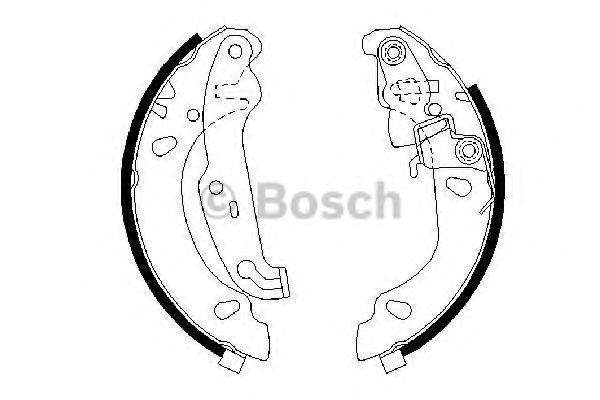 Колодки гальмівні барабанні Bosch 0986487624