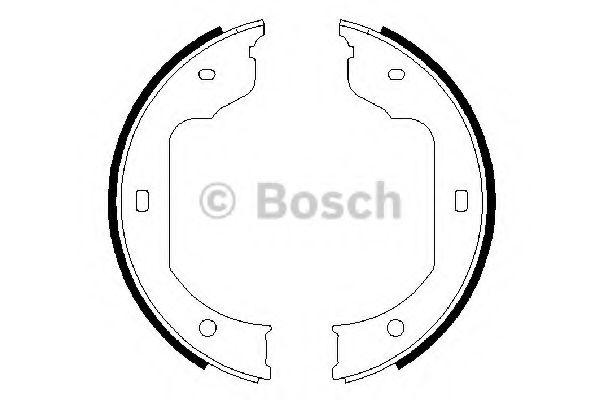 Колодки гальмівні барабанні Bosch 0986487625