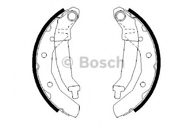 Комплект тормозных колодок BOSCH арт. 0986487628