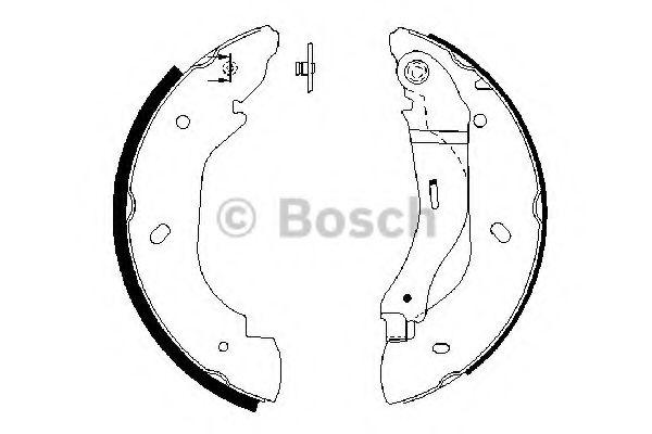 Комплект тормозных колодок BOSCH арт. 0986487660