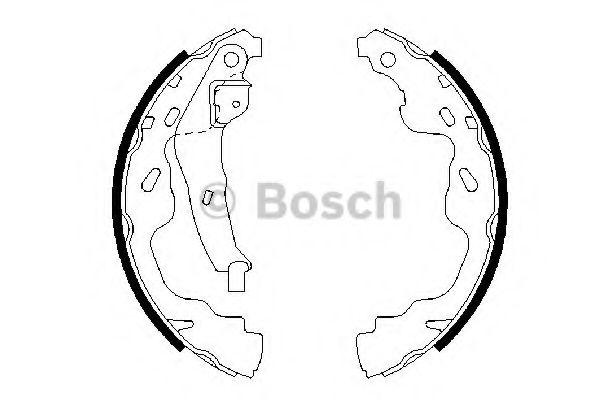 Комплект тормозных колодок BOSCH арт. 0986487665