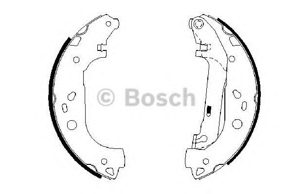Комплект тормозных колодок BOSCH арт. 0986487667