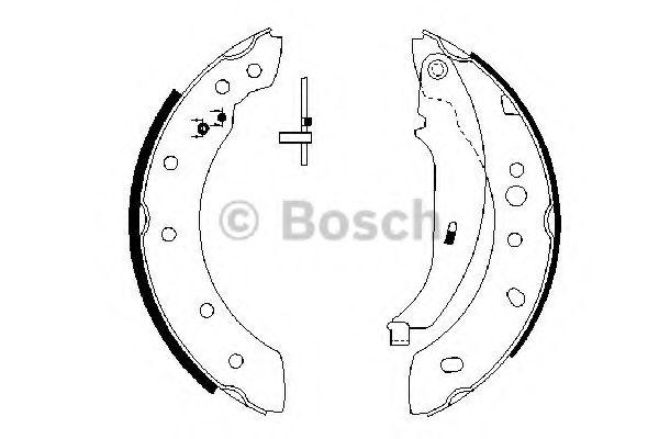 Колодки гальмівні барабанні Bosch 0986487672