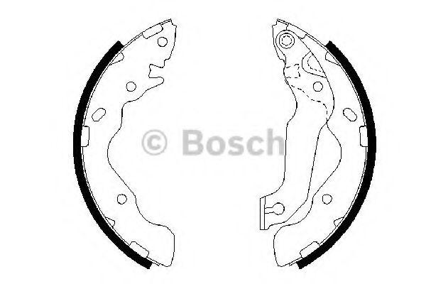 Колодки гальмівні барабанні Bosch 0986487673