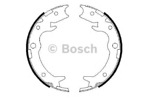 Комплект тормозных колодок, стояночная тормозная система BOSCH арт. 0986487686