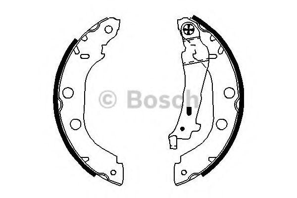 Комплект тормозных колодок BOSCH арт.