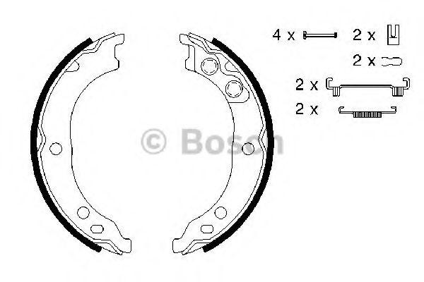 Колодки гальмівні барабанні Bosch 0986487712