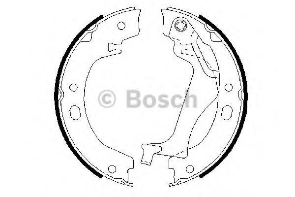 Колодки гальмівні барабанні Bosch 0986487713