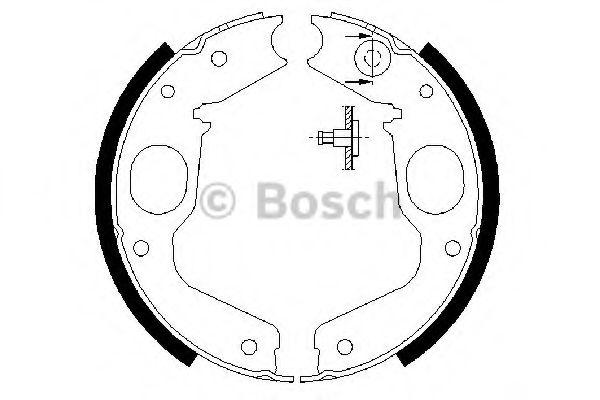 Комплект тормозных колодок BOSCH арт. 0986487719