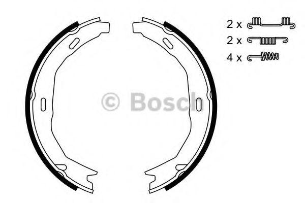 Комплект тормозных колодок, стояночная тормозная система BOSCH арт. 0986487723