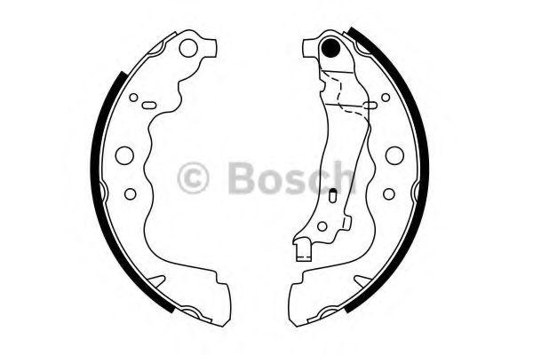 Комплект тормозных колодок BOSCH арт. 0986487754