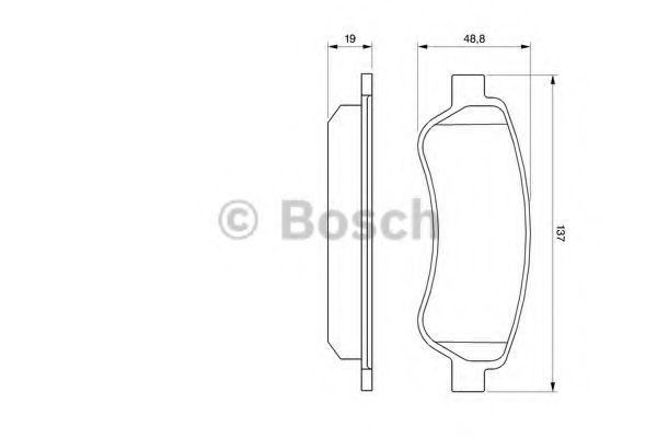 Комплект тормозных колодок, дисковый тормоз BOSCH арт. 0986494110