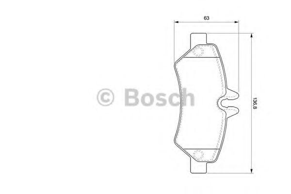 Комплект тормозных колодок, дисковый тормоз BOSCH арт. 0986494123
