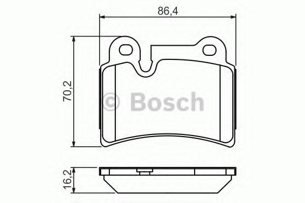 Комплект тормозных колодок, дисковый тормоз BOSCH арт. 0986494210