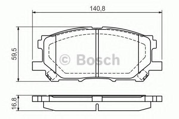 Комплект тормозных колодок, дисковый тормоз BOSCH арт. 0986494218