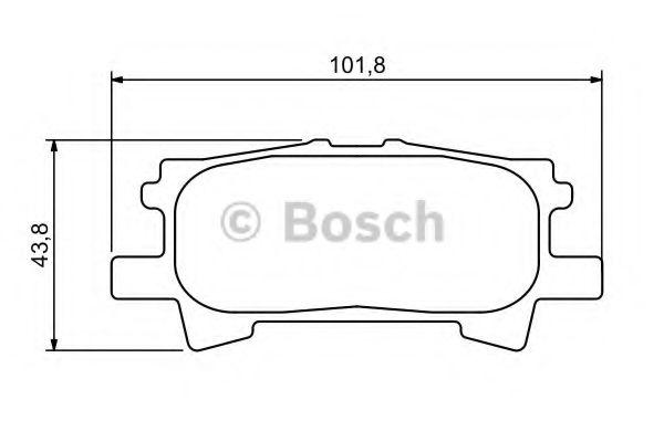 Комплект тормозных колодок, дисковый тормоз BOSCH арт. 0986494224