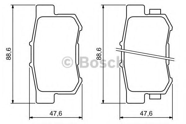 Комплект тормозных колодок, дисковый тормоз BOSCH арт. 0986494233