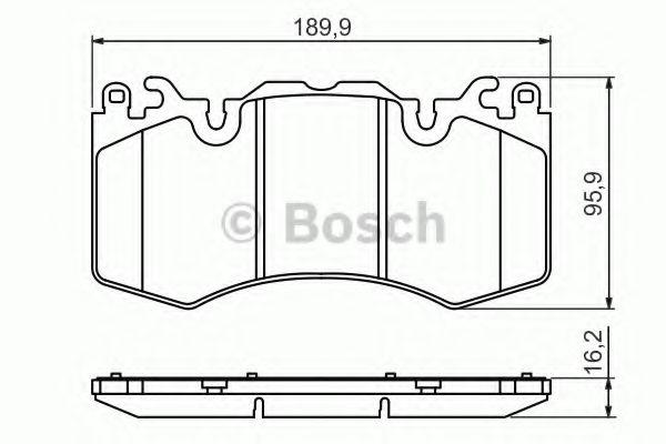 Комплект тормозных колодок, дисковый тормоз BOSCH арт. 0986494440