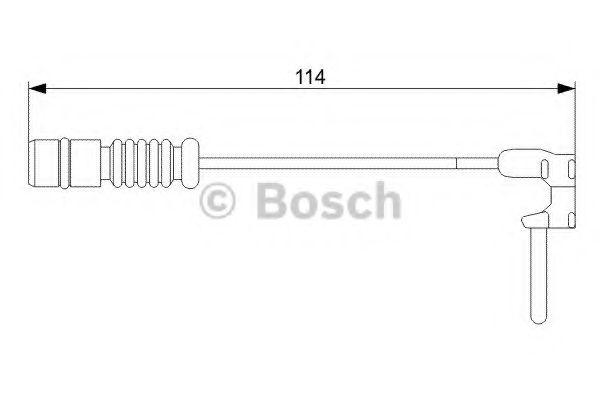 Сигнализатор, износ тормозных колодок BOSCH арт. 1987473011