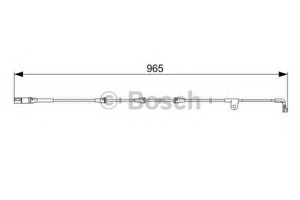Аксессуары, тюнинг Сигнализатор, износ тормозных колодок BOSCH арт. 1987473027