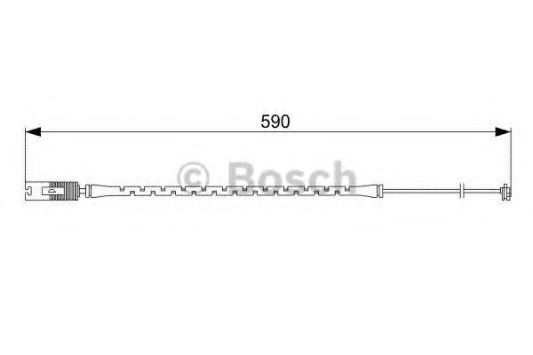 Сигнализатор, износ тормозных колодок BOSCH арт. 1987473042