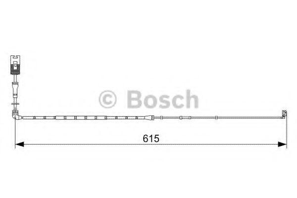 Аксессуары, тюнинг Сигнализатор, износ тормозных колодок BOSCH арт. 1987473056