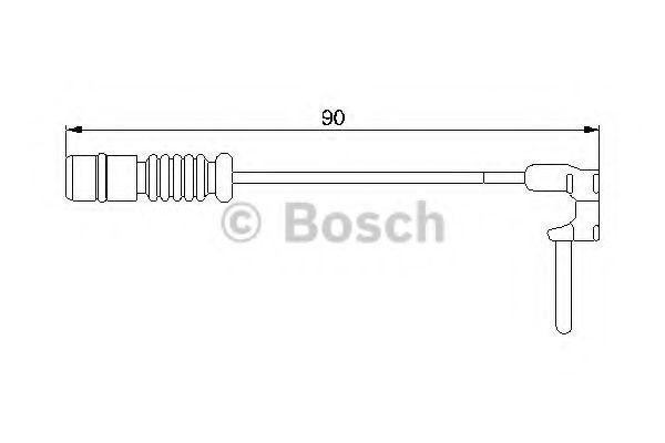 Сигнализатор, износ тормозных колодок BOSCH арт. 1987474901