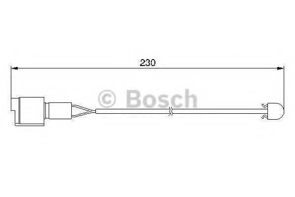 Сигнализатор, износ тормозных колодок BOSCH арт. 1987474910