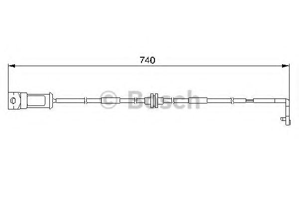 Сигнализатор, износ тормозных колодок BOSCH арт. 1987474934