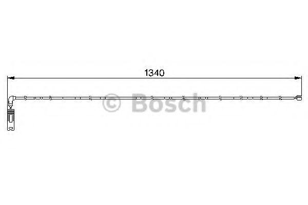 Аксессуары, тюнинг Сигнализатор, износ тормозных колодок BOSCH арт. 1987474944